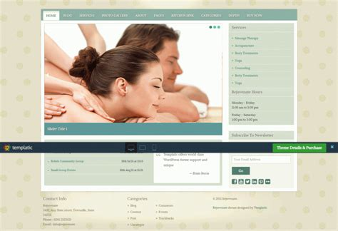 Wordpress Themes Free Massage | 15 best massage therapist wordpress templates themes