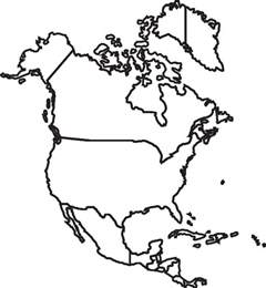 North America Map Outline by Image Gallery North America Map Outline