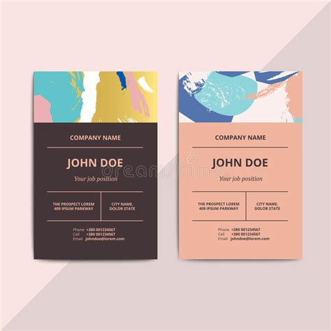 trendy business cards templates trendy abstract business card templates modern luxury