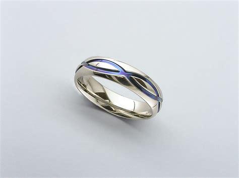 infinity ring infinity wedding band zirconium wedding band