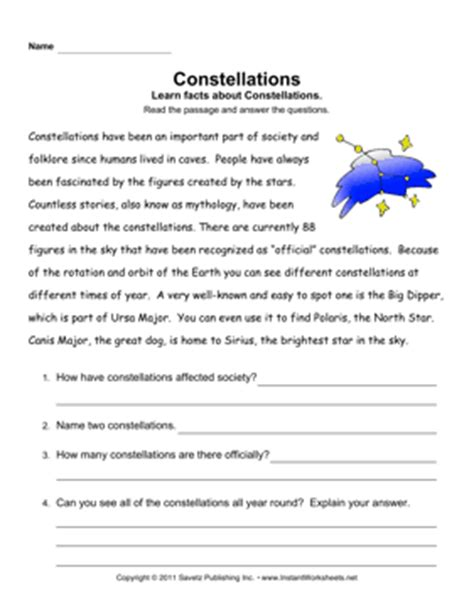 Constellation Worksheets by Constellations Worksheets Search Results Calendar 2015