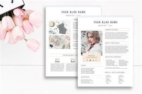 home design media kit media kit template 2 page stationery templates