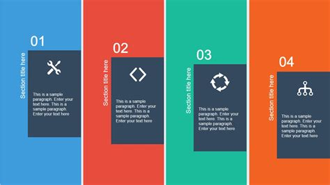 Powerpoint Layout With 4 Pictures | 4 columns slide layout for powerpoint slidemodel