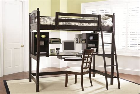 coaster twin loft bed with desk furniture outlet workstation desk loft bed cappuccino