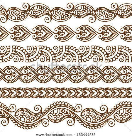 indian pattern svg ornamental seamless borders vector set with abstract