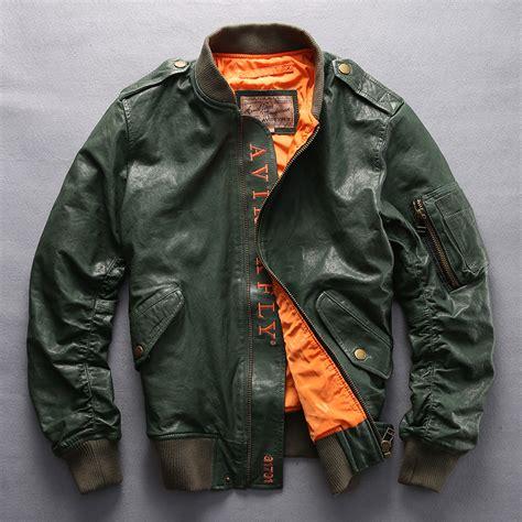 Flight Bomber Jacket Green Army Cewek aliexpress buy avirex fly fashion baseball jacket