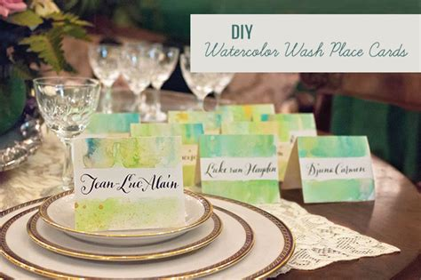 diy place cards diy watercolor wash place cards