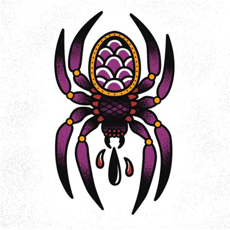 traditional spider tattoo spider on