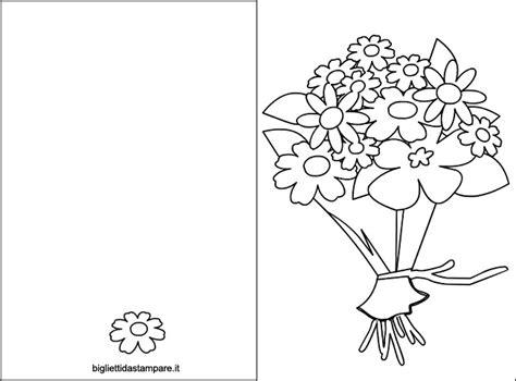 mazzi di fiori da colorare biglietto festa della mamma con mazzo di fiori