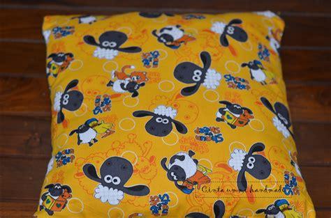 Bantal Buah 35cm An bismillah wulan bisa kain shaun kuning hitam putih