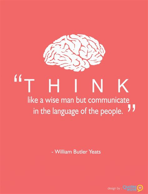 design wise meaning think like a wise man but communicate in the language of