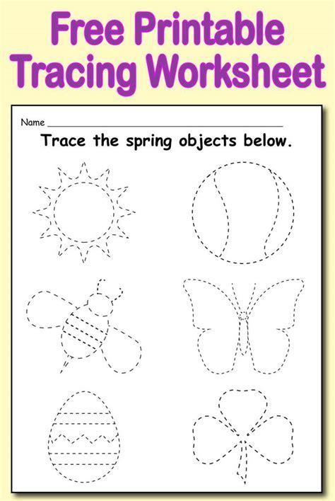 free printable spring themed tracing worksheet supplyme