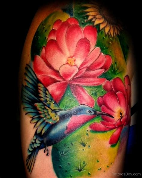 hummingbird with flower tattoo designs hummingbird tattoos designs pictures