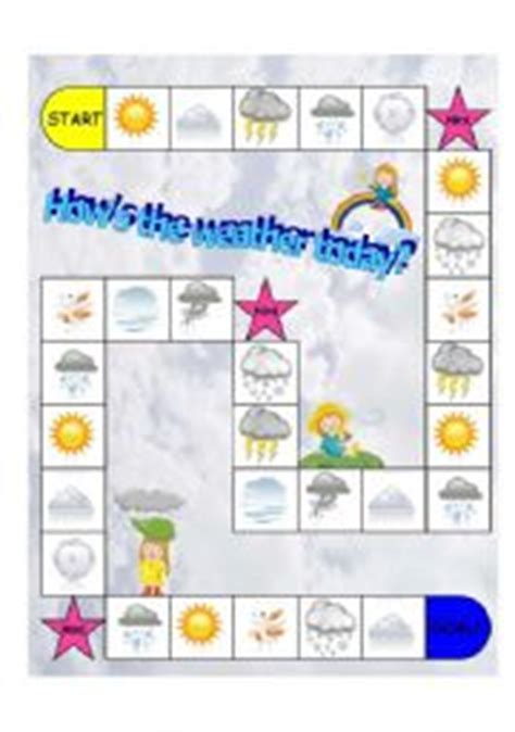 printable games weather english worksheets weather board game