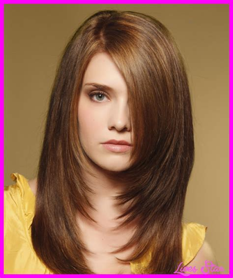 haircut with long layers and side swept bangs hairstyles