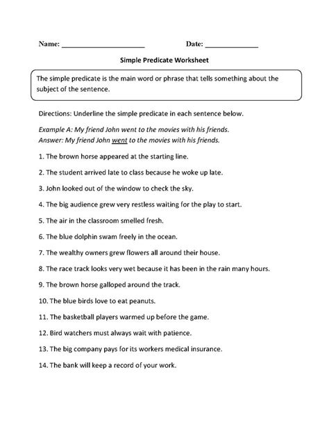 Subject And Predicate Practice Worksheets by 17 Best Ideas About Subject And Predicate Worksheets On