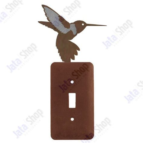 switch plate covers hummingbird single toggle metal switch plate cover