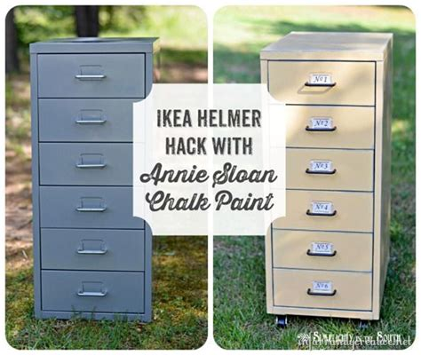 Chalk Paint On Metal Filing Cabinet Ikea Hack Helmer Drawer Set Drawer Unit Cabinets And Metals