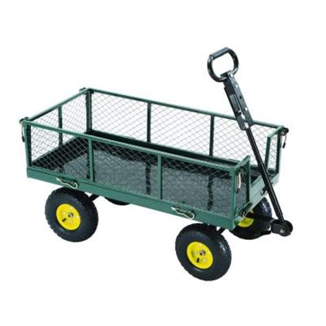 tricam industries 3 cu ft steel garden yard cart