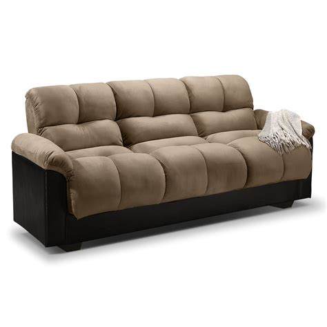 futon bed settee crawford futon sofa bed with storage furniture com