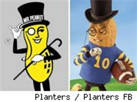 Planters Peanuts Mascot by Boy How You Ve Changed Nine Big Mascot Makeovers Aol