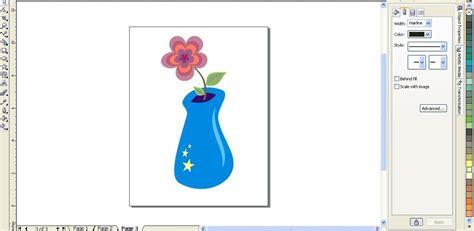 tutorial bunga coreldraw tutorial membuat vas bunga dengan corel draw tik tik tik
