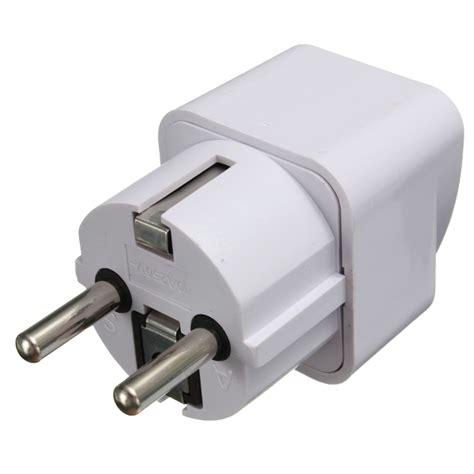 Universal Eu 2 Adapter To 3 Pin Stop Kontak universal us uk au to eu ac power adapter 2 pin travel converter adapter socket charger alex nld