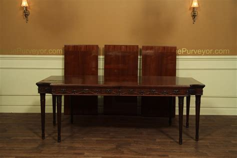 French Louis Xvi Neoclassical Mahogany Dining Room Table Dining Table Leg Styles