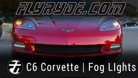 150 led c6 lights chevy c6 corvette led fog lights youtube