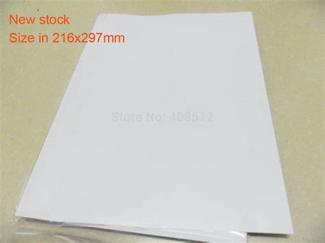 printable sticker paper waterproof 40 sheets a4 216x297mm blank waterproof sticker paper