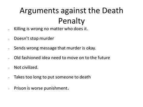 Essay About The Penalty by Arguments Against Capital Essay