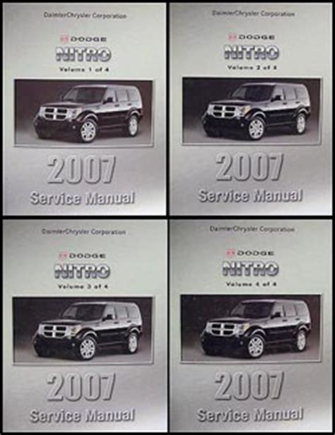 service manual old car owners manuals 2007 dodge ram 2500 electronic toll collection 2006 2007 dodge nitro repair shop manual 4 vol set original