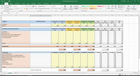 excel checkliste baukosten planung fuer ihren hausbau