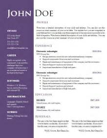 word document sle resume resume format doc