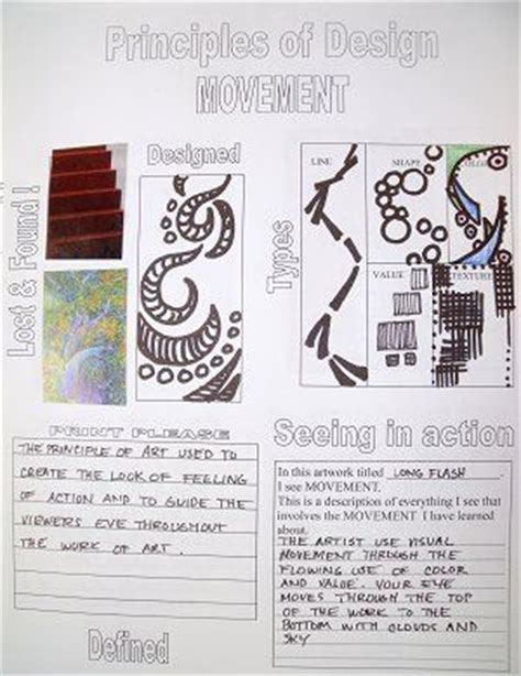 poster design worksheet 151 best images about elements and principles of art