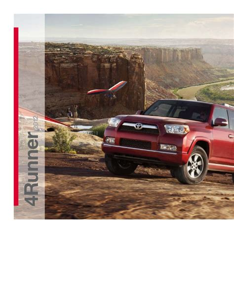 2012 toyota 4runner brochure in ta florida dealer