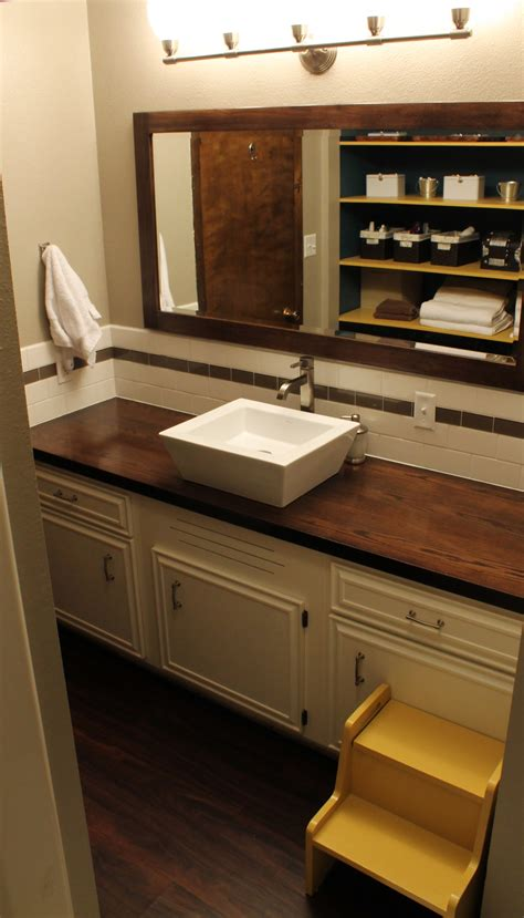 Wood Top Bathroom Vanity Wood Countertop