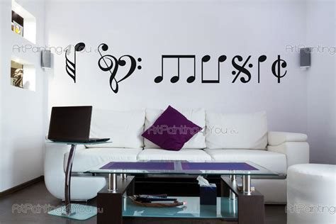 cenefas musicales adhesivos decorativos notas musicales artpainting4you eu
