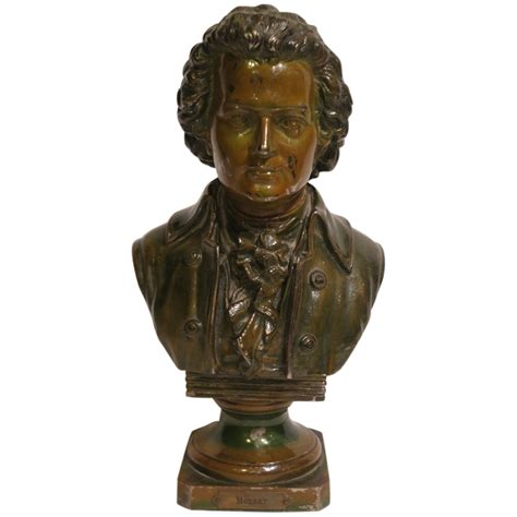bust to bust vintage mozart bust statue from big on ruby