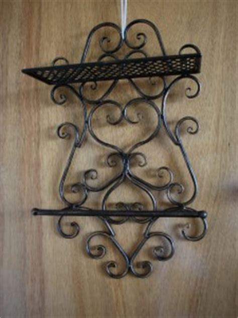wrought iron style bathroom shelf towel bar 63cm ebay