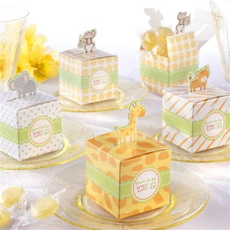 Baby Shower Favors Themes jungle themed baby shower favor boxes safari themed baby