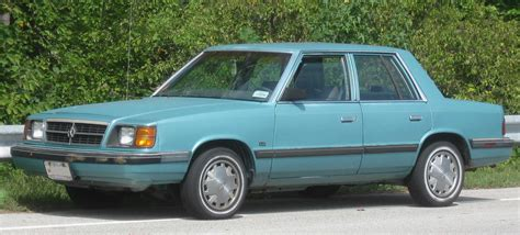 top dodge cars 1989 dodge aries
