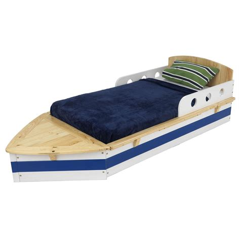 kidkraft 174 boat toddler bed 125743 kid s furniture at