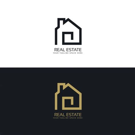 creative real estate logo design vector free download