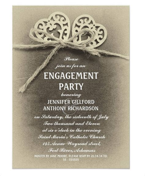 engagement invite templates 40 printable engagement invitations templates free