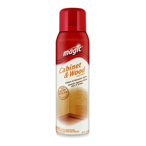 Wood Kitchen Cabinet Cleaner Magic 17 Oz Cabinet And Wood Aerosol Cleaner With Stay Clean Technology 3063 The Home Depot