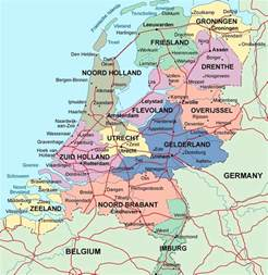 a map of cities detailed administrative map of netherlands with major