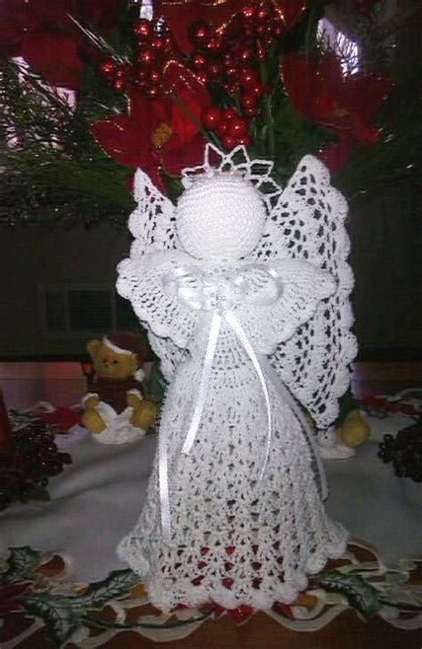patterns for christmas tree toppers beautiful hand crochet white angel tree topper christmas