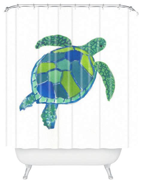 turtle curtains laura trevey sea turtle shower curtain beach style
