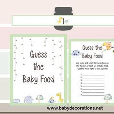 baby food guessing template thank you baby shower printable tag labels printable